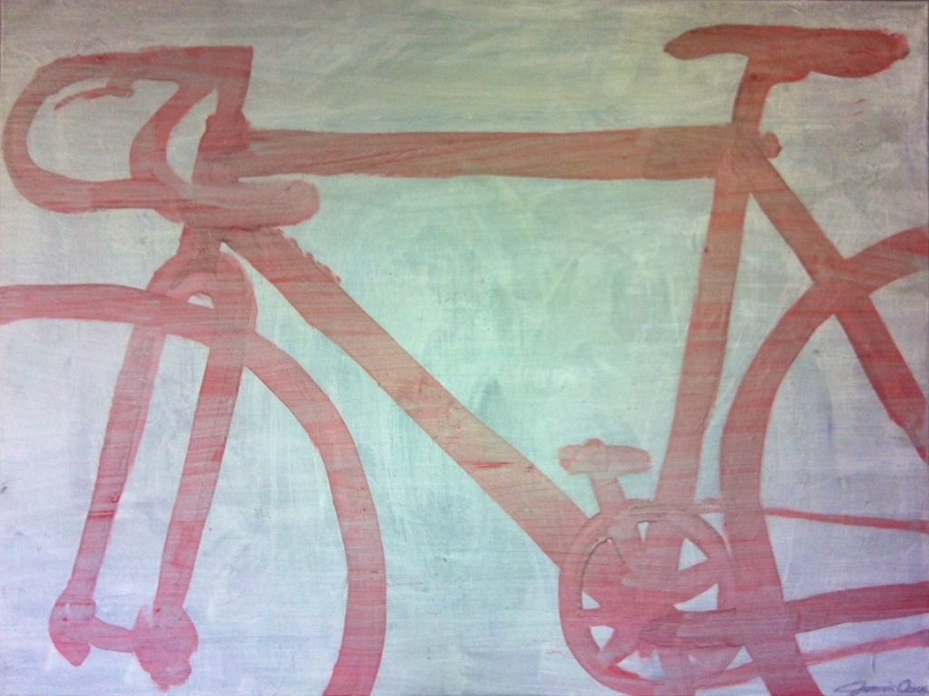 Fixie.  Painting.  2013  3'5'  SOLD